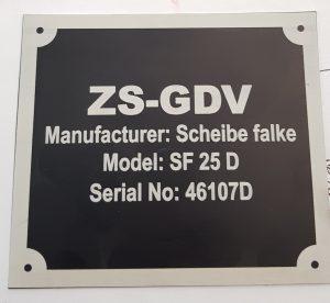 identification plate